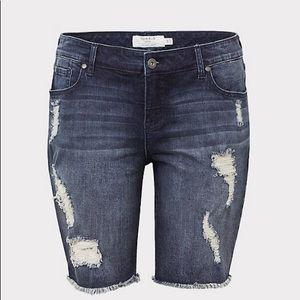 Stretch Bermuda shorts